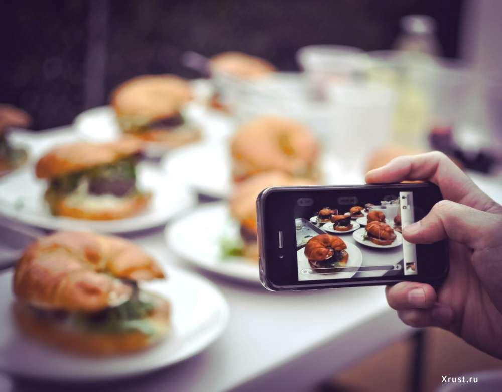 Как правильно фотографировать в ресторане