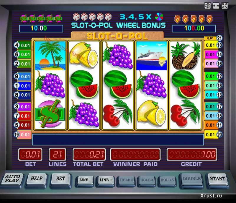 Bonus game in Slot-o-Pol Deluxe