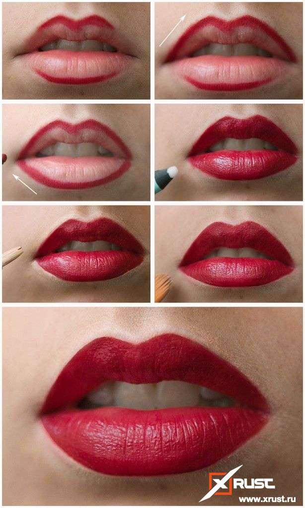 Манящие губы цвета бордо!