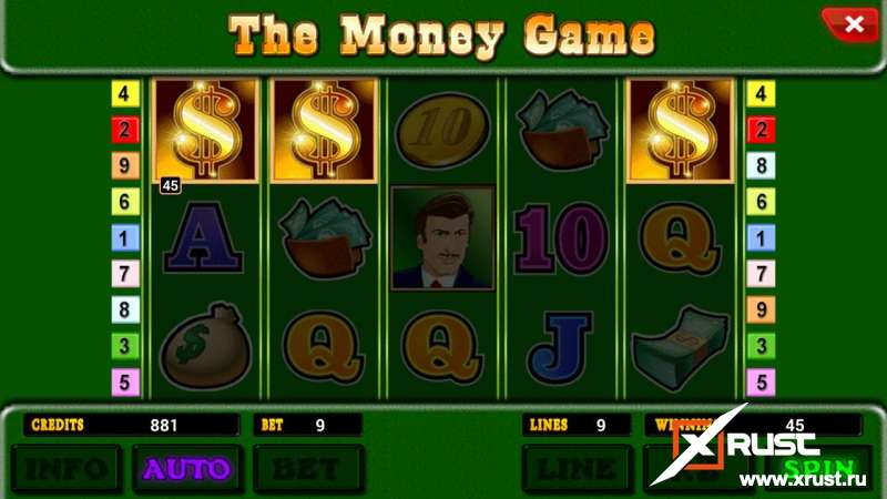 Играчем в автомат The Money Game через сайт 777top.cc в казино Азино777