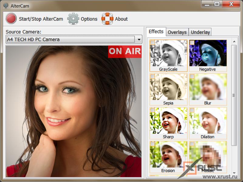 AlterCam. Приложение для веб-камеры